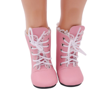 De Accesorios Juguete 18 Pulgadas Muñeca Zapatos Rosa Regalo Cumpleaños Altas Para Encaje Niña Botas S127 ordexBC