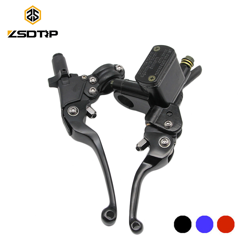 ZSDTRP 22mm Universal Adjustable ASV Red/Blue/Black Folding Brake Clutch Levers For Pit Bike Dirt Bike Motocross Motorcycle ATV