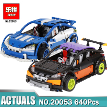 Lepin 20053 640pcs Black/Blue Technic Series Hatchback Type Remote Control RC Car MOC-6604 Building Block Brick Toy for Boy