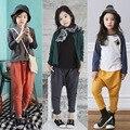 2016 Nueva Otoño Niños Pantalones de Harén Niñas Leggings Heremes Niños Pantalones Ropa Pantalones de Algodón Sueltos Sólidos Junior Para La Muchacha