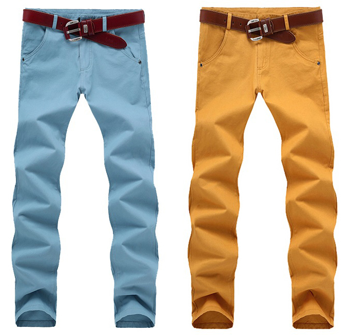 Colored khaki pants for men online shopping-the world largest ...