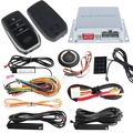 Quality PKE car alarm system with remote engine start stop, passive keyless entry kit, push button start, touch password keypad