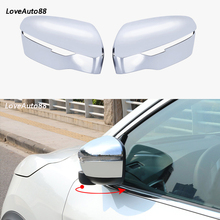 Car Side Mirror Caps Cover For Nissan Qashqai J11 2016 2017 2018 2019 Car Rearview Side Glass Mirror Cover Trim Frame цена и фото