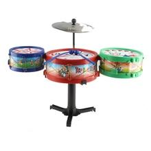 10Pcs/Set Kids Plastic Drum Set Toy Musical Instruments Baby Grasp Sound Drum Toys for Children