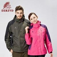 Winter Outdoor Ski Windbreaker Jackets Men Women Waterproof Warm Fleece Double Sets Mountaineering Camping Coat Jackets