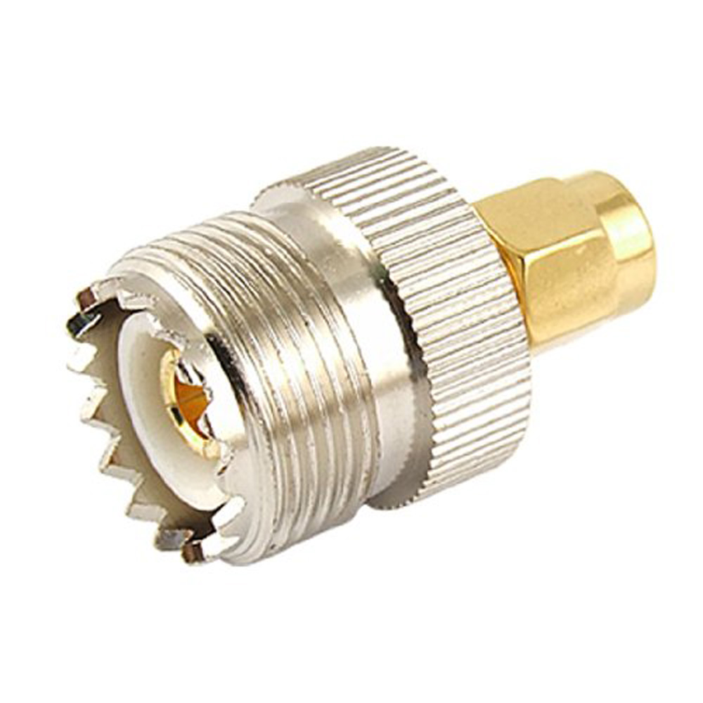 WSFS Hot Sale Hot Sale UHF SO-239 SO239 Female to SMA Male Plug Connector Coaxial Adapter rp sma female to y type 2x ip 9 ms156 male splitter combiner cable pigtail rg316 one sma point 2 ms156 connector for lte yota