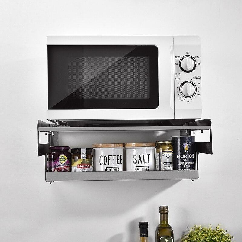 304 acier inoxydable double-couche micro-ondes four support rack rack suspendus cuisine four plateau cintre épaississement support LU51510