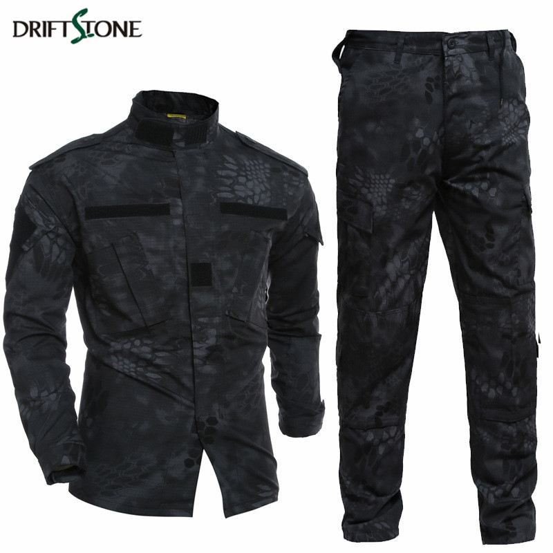 Kryptek Typhon Tactical Uniform Camo Combat Uniform BDC Field Uniform Camouflage Set Jacket Pants Men s