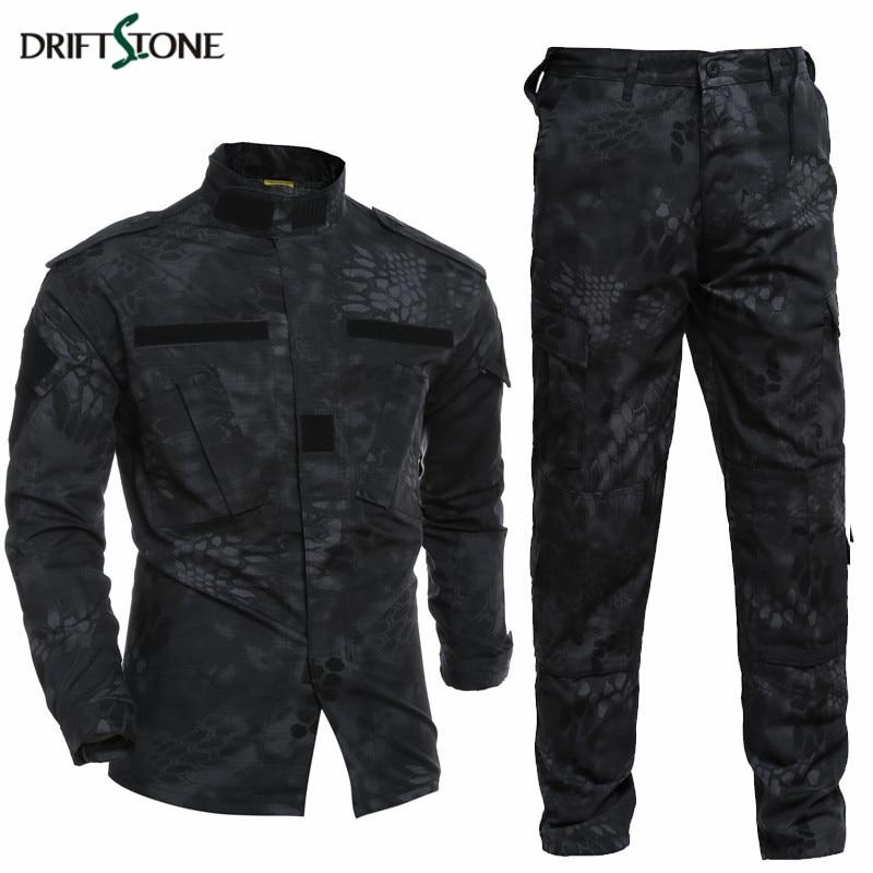 Kryptek Typhon Tactical Uniform Camo Combat Uniform BDC Field Uniform Camouflage Set Jacket Pants Men's Army Uniform