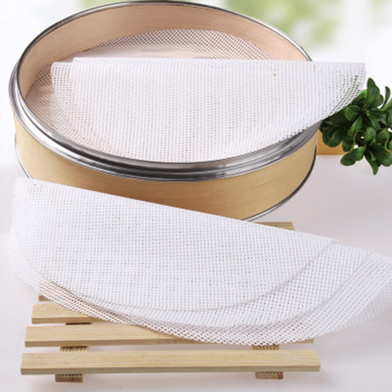 1Pc Non-Stick Round Silicone Steamer Dim Sum Paper Kitchen Under Steamers Mat Kitchen Cooking Tools 20/25/30cm