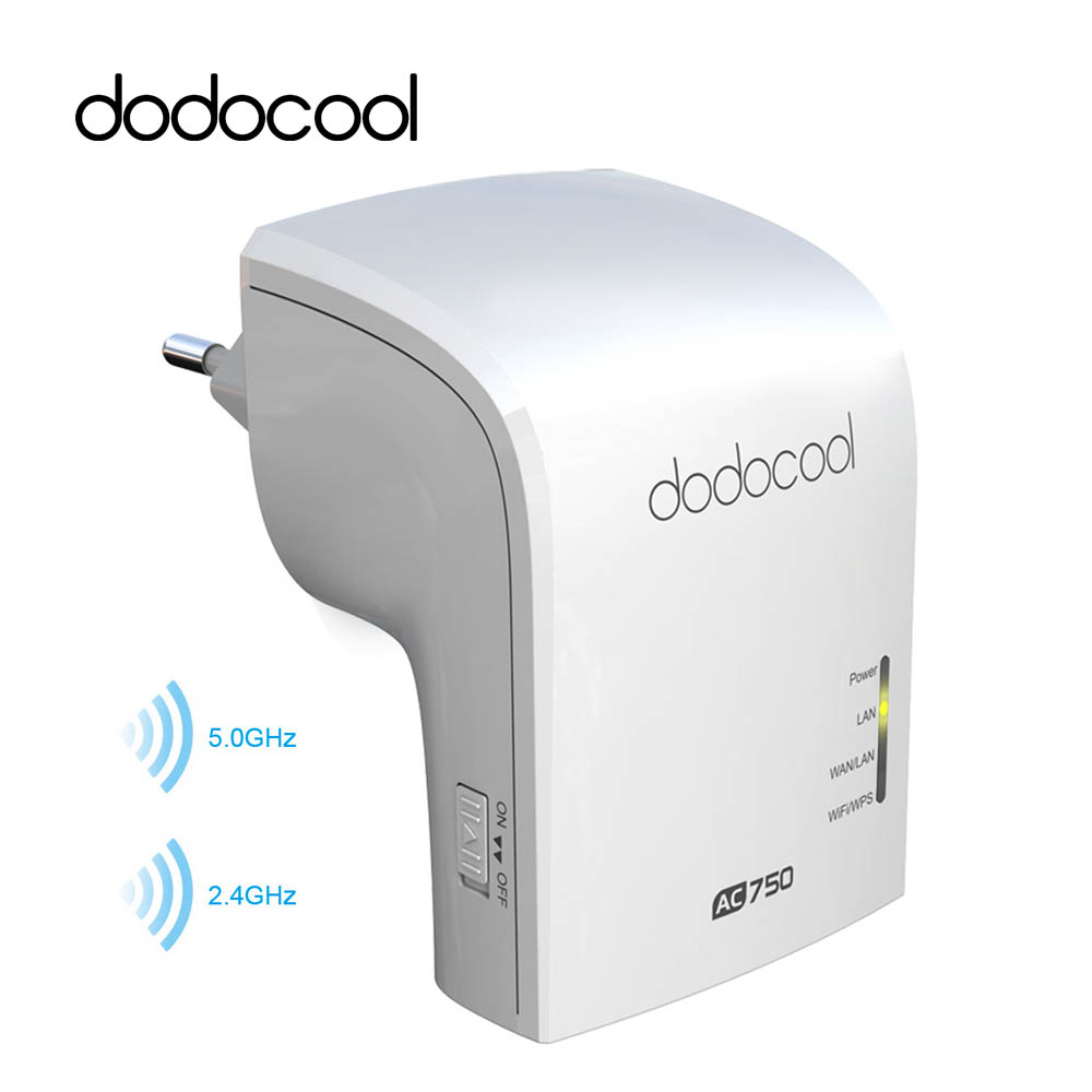 dodocool Wireless Router Wifi Repeater Router AP Access Point Dual Band 2.4GHz 300Mbps 5GHz 433Mbps 802.11a/b/g/n/ac WiFi Router original huawei honor router standard version ws831 dual band wifi 2 4ghz 300mbps 5ghz 867mbps beamforming home smart router