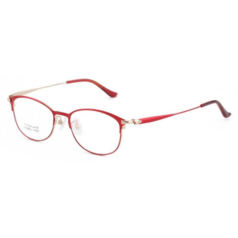 Titanium Eyeglasses Frame Women Full Frame Myopia Glasses Prescription Glasses Designer Optical Glasses Frame 646