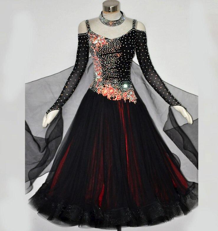Ballroom Dance Dress For Women High Quality Competition Dresses Modern Waltz Tango Standard Ballroom Costume Blue MD487