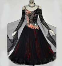 купить Ballroom Dance Dress For Women High Quality Competition Dresses Modern Waltz Tango Standard Ballroom Costume blue MD487 по цене 23694.84 рублей