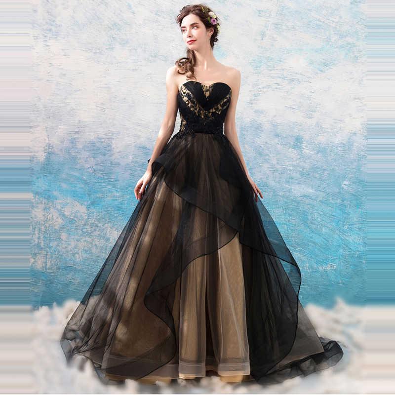 To Yiiya suknie wieczorowe bez ramiączek bez rękawów długość czarnej podłodze elegancka formalna sukienka na imprezę projektant mody LX873