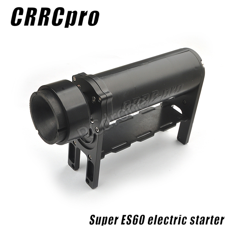 New arrival CRRCpro ES60 Starter For 15cc-62cc Gas/Nitro Engine RC Airplane helicopter aluminum water cool flange fits 26 29cc qj zenoah rcmk cy gas engine for rc boat