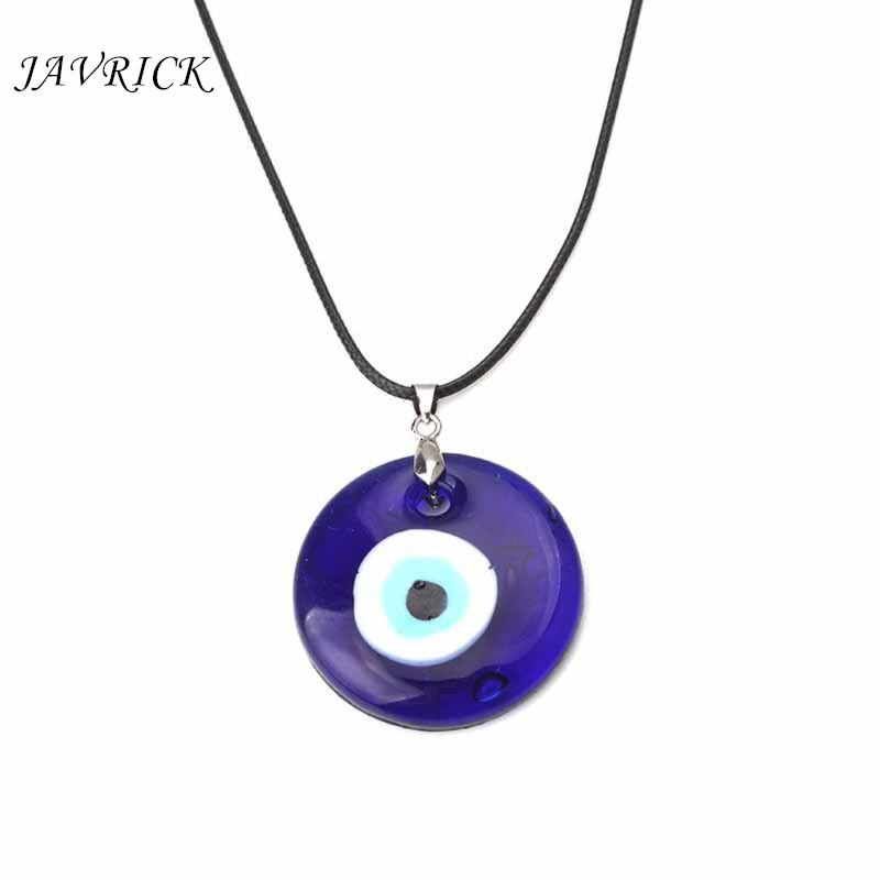 Blue Eyes Unisex Necklace Turkish Evil Eye Protection Glass Lucky Charm Pendant