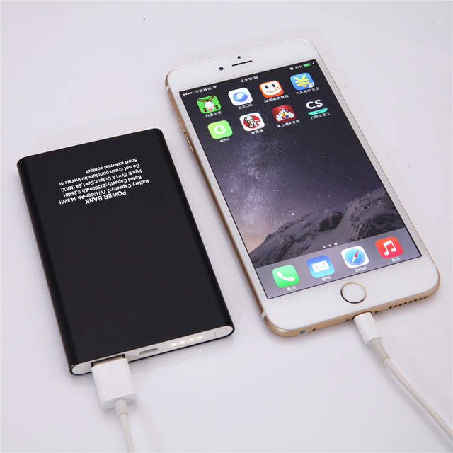 New Free Shipping Ultra-thin Universal Mobile Power Bank Polymer Mini Power Bank for iPhone 7 6 6S 5S 5 5C 4S 4 and others