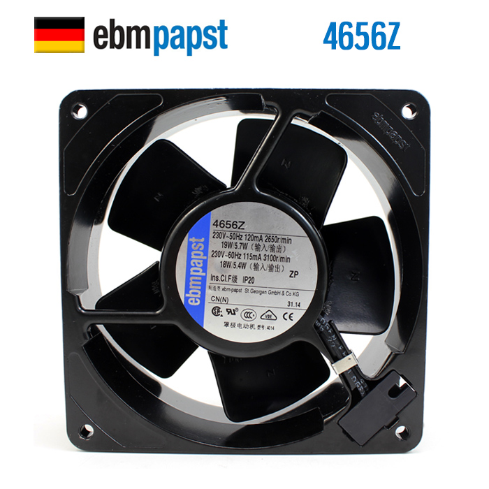 New Original ebmpapst 4656Z 120*120*38MM 230V 0.12A full metal high temperature cooling fan szytf new and original spindle cooling fan 4656ez 230v 0 12a 19w high temperature fan 108 38mm