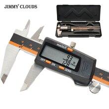 0-150 мм 0,01 мм Цифровой штангенциркуль из нержавеющей стали Электронный штангенциркуль метрический/дюйм/фракционный микрометр измерительные инструменты
