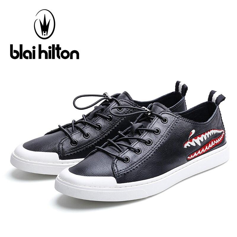 Hilton Casual Mode Vache Luxe 2018 Plat Blai Chaussures Hommes Véritable Cuir De Nouvelle up Dentelle D'été En 100 RTWgWqd8