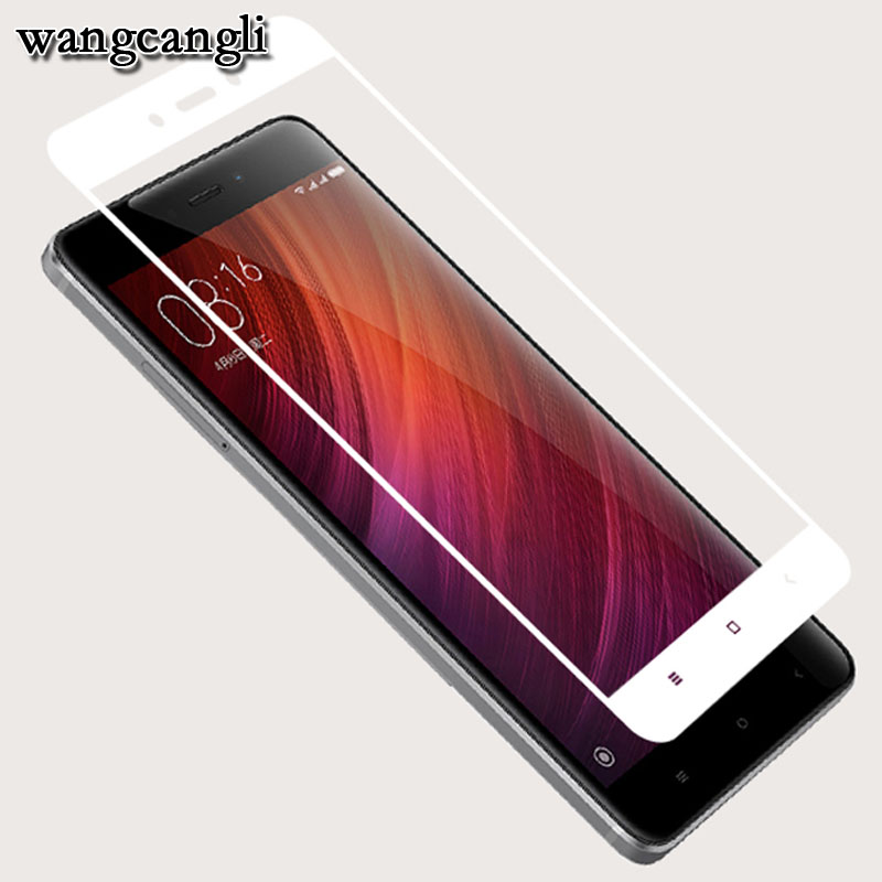 Wangcangli 3D Tempered glass For xiaomi redmi 4X film on for Note protective Full Cover 9H 3d cover