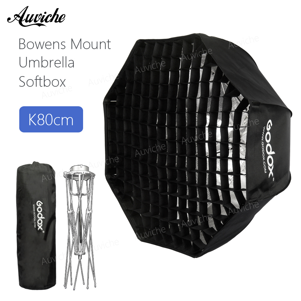 Godox 80cm Bowens Mount Octagon Honeycomb grid Umbrella Softbox soft box with Bowens Mount for Bowens Mount Studio Flash Light bowens mount octagon softbox 120cm with grid for studio flash photo studio soft box photography accesorios fotografia