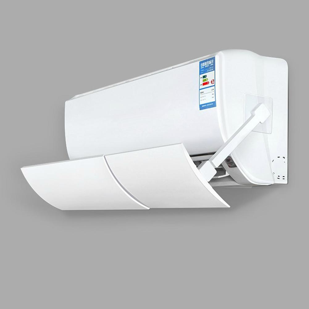 New PP Adjustable Anti Direct Blowing Air Conditioner Wind Shield & 2 Rods & 2 Traceless Adhesives Home Baffle Deflector