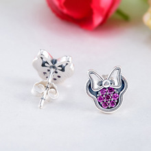 Sparkling Minnie Mouse Stud Earrings