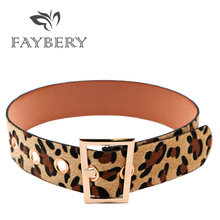 Fashion Leopard Women Belts for Wide Belt Golden Metal Buckle Corset Party Dresses Womens Clothing