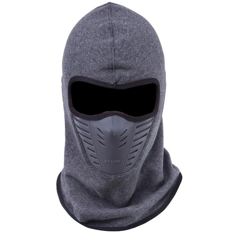 2018 Dust-proof Cycling Face Mask Windproof Winter Warmer Fleece Bike Full Face Scarf Mask Neck Bicycle Snowboard Ski Men M116 summer dust proof sunscreen neck mask female outdoor riding mask