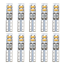 цена на 10Pcs Car LED Light Bulbs T5 4 SMD 3014 Auto Signal Lamp Instrument Lights Warm White 3000K White 6000K DC 12V Car Styling