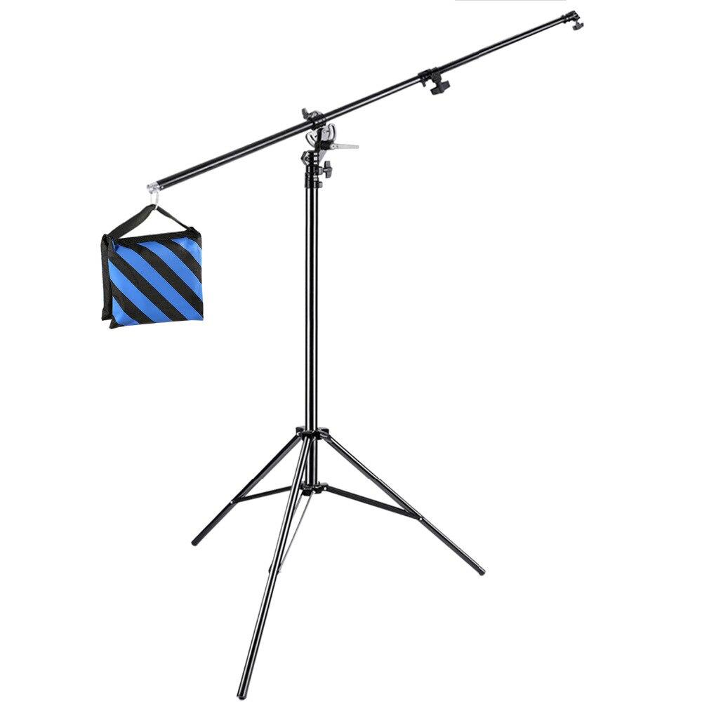 Neewer фотостудия 13 футов/3,9 м 2-в-1 Света Стоять С 74,8-дюймовый бум arm и песком для поддержки Softbox студия