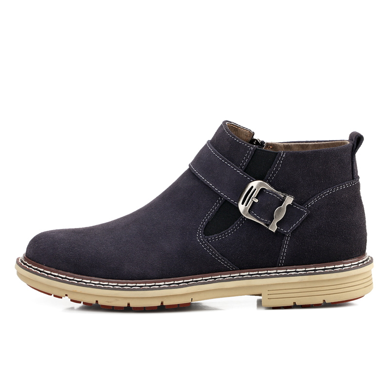 New Fashion Men Winter Shoes Solid Color Snow Boots Slip On Antiskid Bottom Keep Warm Waterproof Boots 25D50