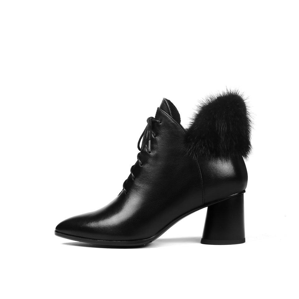 Vaca Moda Mujer Negro Tobillo 34 42 Botas De Zapatos 2019 Pu Mujeres Moto  Nesimoo Plataforma Invierno Tamaño FqvwafSn e3ed1197a5ac