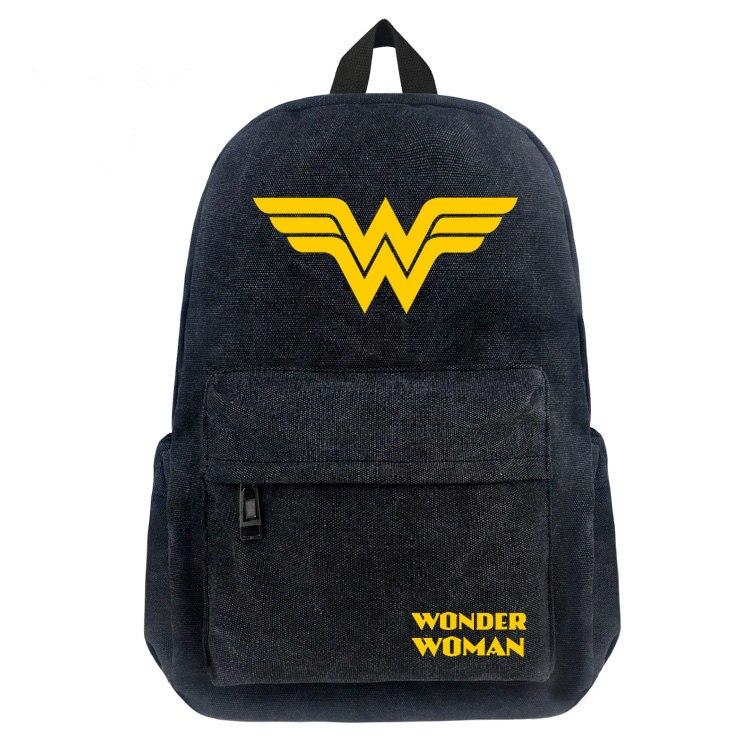 a01a94d7f3 Superhero Wonder Woman backpack boy girl School Bags Teenagers bookbag Men  Casual travel Bag Cartoon Laptop ...