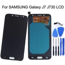 """5.5 """"AMOLED لسامسونج غالاكسي J7 2017 شاشة الكريستال السائل J730 J730f محول الأرقام بشاشة تعمل بلمس قطع غيار سامسونج عرض J7 Pro J730f"""