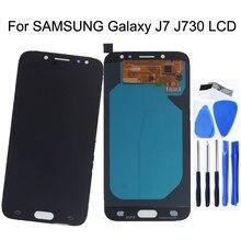 """5.5 """"SCHERMO AMOLED Per SAMSUNG Galaxy J7 2017 Display LCD J730 J730f di Tocco Digitale Dello Schermo di Ricambio Per SAMSUNG Display J7 pro J730f"""