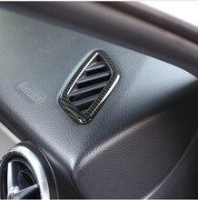 Углеродное волокно Стиль ABS кондиционер для приборной панели вентиляционное отверстие Накладка для Mercedes Benz CLA, glа класс W117 X156 2014-2018
