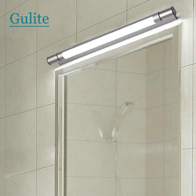W En Aluminium Étanche Tube Miroir Lampe Accueil Salle De Bains - Ampoule tube salle de bain