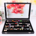 stud earrings display tray jewelry box european-style stud earrings organizer cases of glass lid pin type earrings is received
