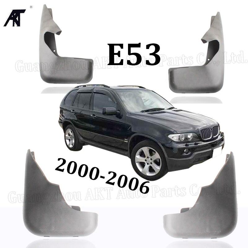 4x Mud Flap For 2000-2005 BMW X5 E53 3.0L 4.4L Front Rear Molded Car Mud Flaps Mudflaps Splash Guards Mudguards Fender