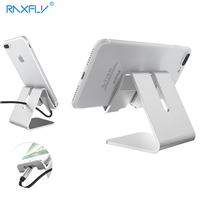 RAXFLY Universal Aluminum Phone Tablet Holder Stand For IPhone 6s 7 Plus Xiaomi Redmi LG Table