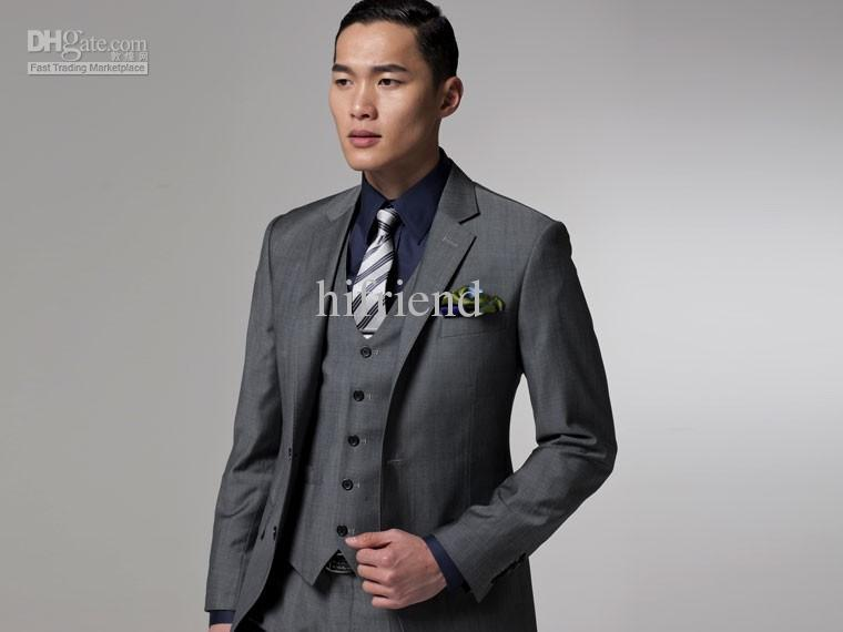 Custom Made New Grey 3 Pieces Two On Wool Wedding Suits Groom Tuxedo Suit For Mens A02 In Grooms Wear From Weddings Events Aliexpress Alibaba