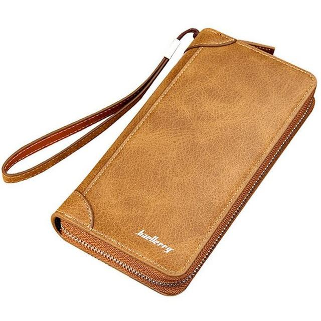 2016 New Retro Matte leather Wallet Men's Clutch Bag Fashion Nubuck Skin Coin Purse Long Zipper Business Card Holder Wallets