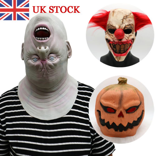Funny Pumpkin Latex Mask Halloween Party Face Mask Tool Prop Costume New