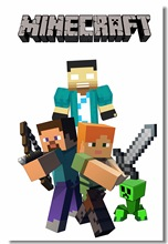 Custom Canvas Wall Decor Minecraft Game Poster Minecraft Stickers 3D Wallpaper  Minecraft Room Decoration Kid Bedroom