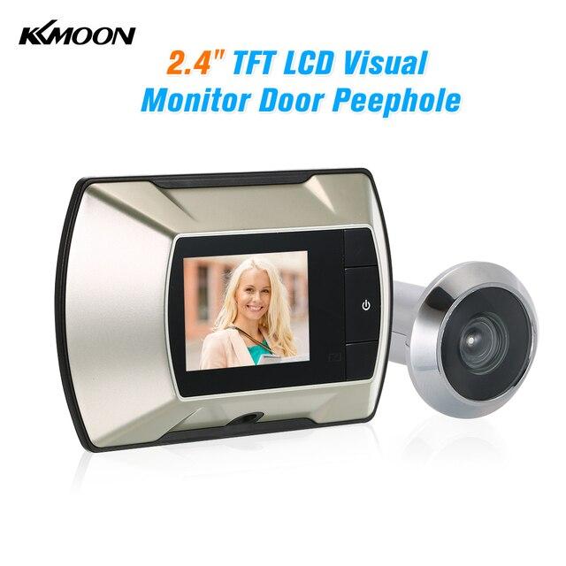 """2.4 """"TFT LCD البصرية رصد الباب ثقب الباب لاسلكية عارض كاميرا الرقمية الكهربائية ثقب الجرس مراقب"""