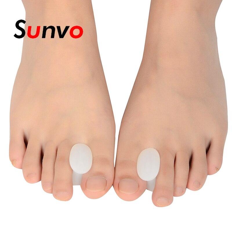 Sunvo 1 pair Silicone Gel Toe Separator for Corrective Hallux Valgus Thumb Overlapping Repair Bone Protector Orthopedic Inserts цена