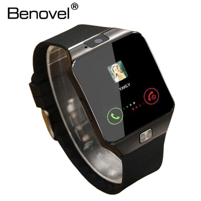 367d32b4ef9 Benovel DZ09 Relógio Inteligente Com Câmera Bluetooth Smartwatch Relógio de  Pulso Do Esporte Wearable Dispositivos SIM